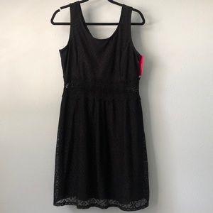 Xhilaration- A Line Lace Black Dress NWT 🏷